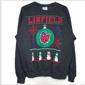 Champion Eco Linfield Holiday Crew Sweater, Medium